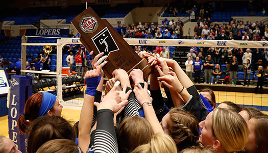 University of Nebraska at Kearney 2017 MIAA volleyball champions