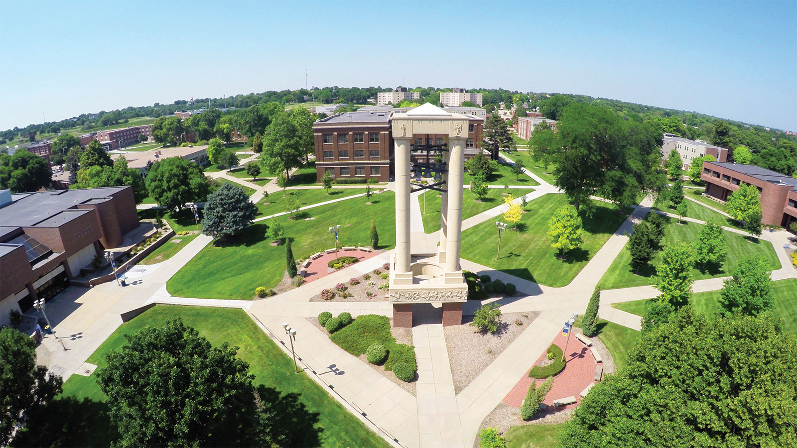 Bell tower drone shot