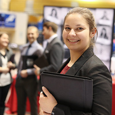 UNK student at the career fair