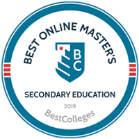 Best Online Master's Secondary Education - Ranked 14th
