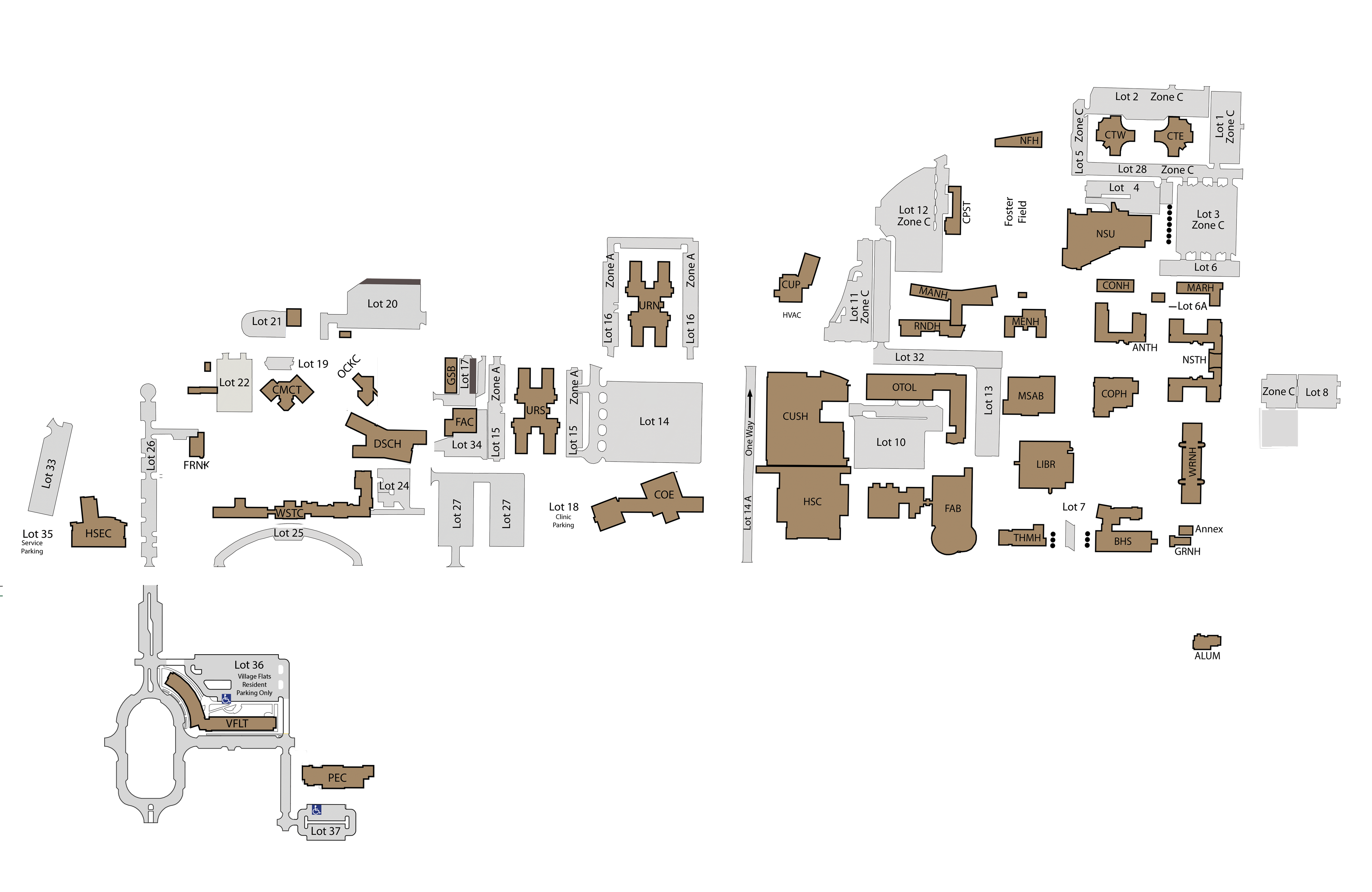 Unk Campus Map UNK Campus Map