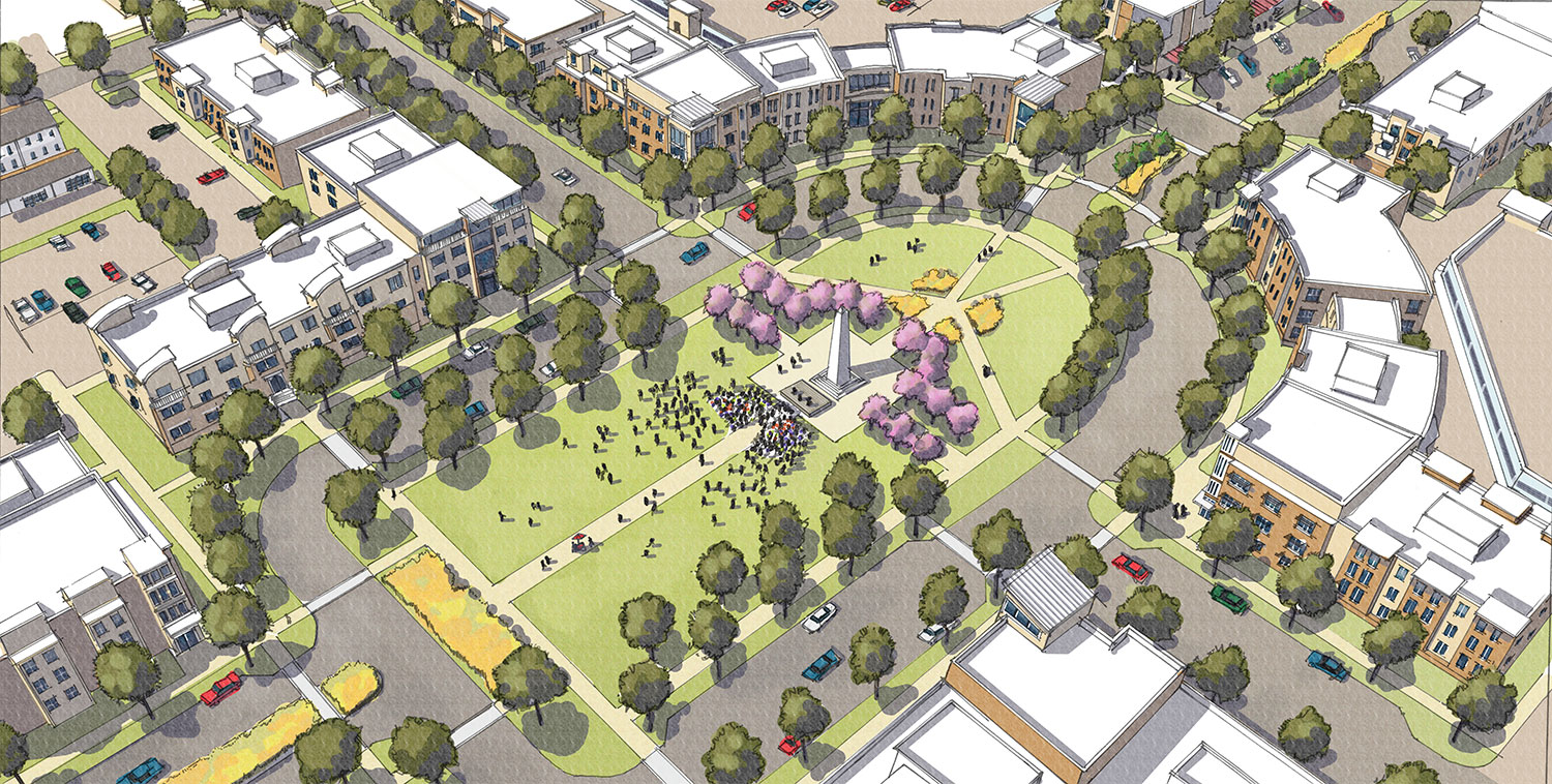 Central Greenspace Rendering