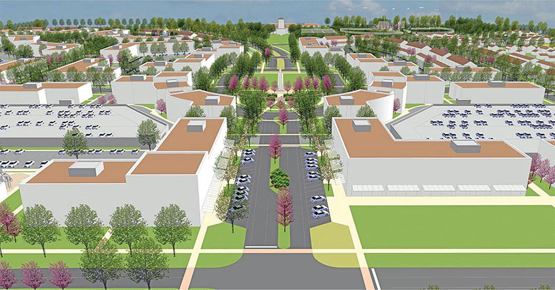 Rendering of University Village