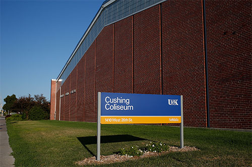 Front of the Cusing Coliseum